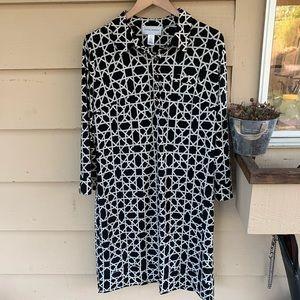 Donna Morgan Geometric Shift Sheath Dress